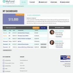 MyFund logo and web app dashboard